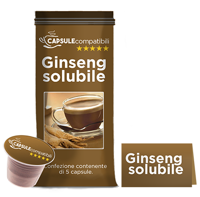 Ginseng solubile - Capsule compatibili per Nespresso