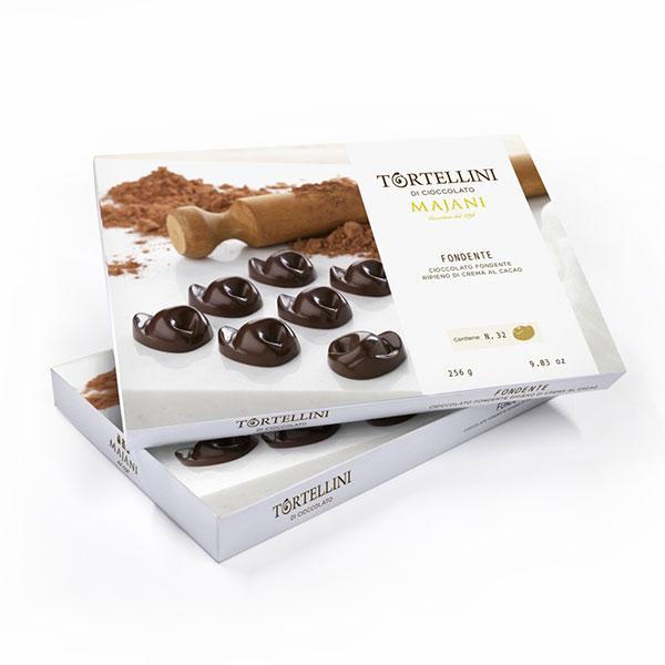 Tortellini di cioccolato fondente