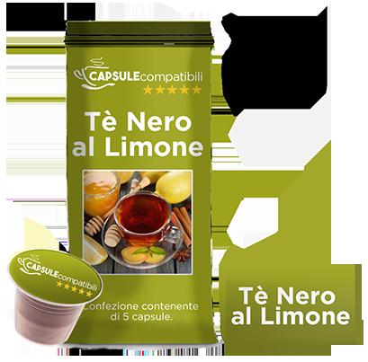 Tè Nero al Limone - Capsule compatibili per Nespresso